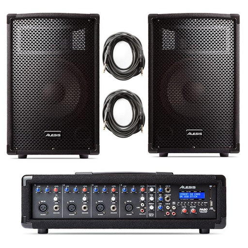 ALESIS PA SYSTEM IN A BOX 280W 4-CHANNEL PA SYSTEM