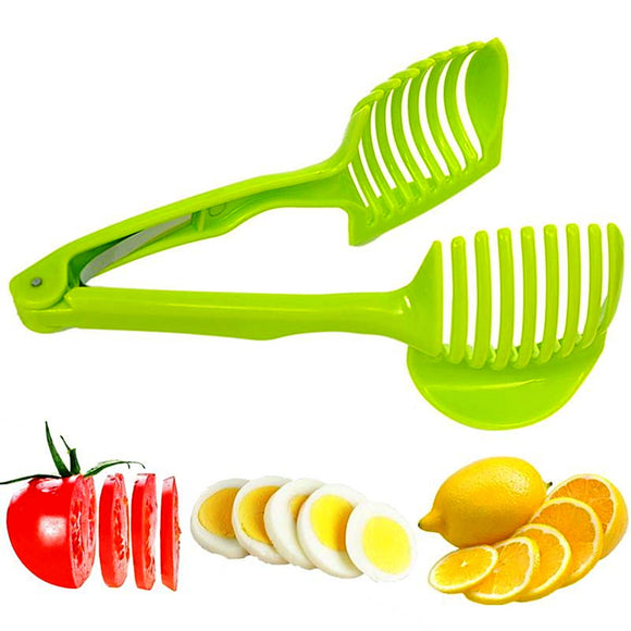 Kitchen Tongs With Slicing Aid