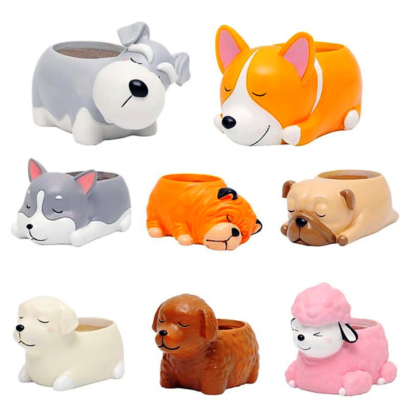 Adorable Dog Plant Pots