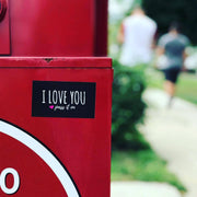 100 Love Stickers / Stick Love Everywhere - ILOVEYOUPASSITON