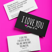 250 Love Cards (Choose From 3 Versions) Join The Movement - ILOVEYOUPASSITON