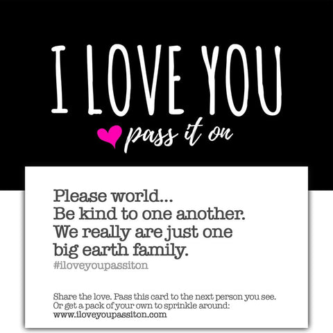 250 Love Cards (Choose From 3 Versions) Join The Movement w FREE Worldwide Shipping - ILOVEYOUPASSITON