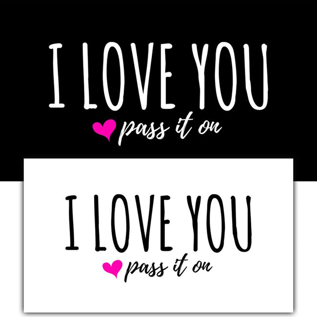 50 Love Cards + 10 Love Stickers with FREE SHIPPING Worldwide Original Version