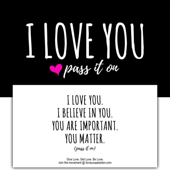 "50 Love Cards + 10 Love Stickers with FREE SHIPPING Worldwide ""You Matter"" Version (NEW)"