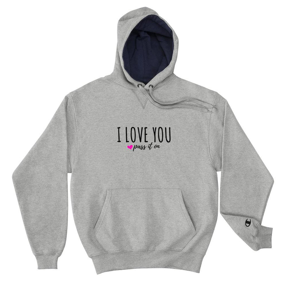Authentic CHAMPION Hoodie (Signature Love Design) - ILOVEYOUPASSITON
