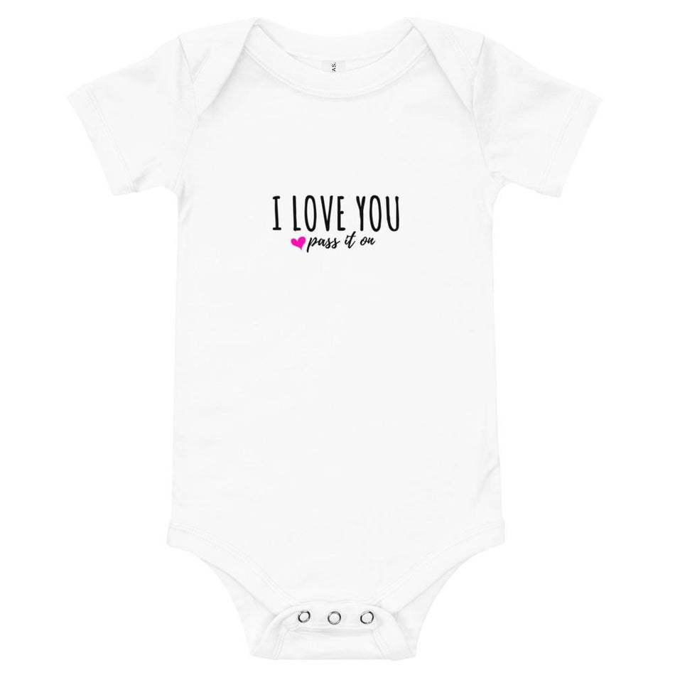 Baby Onesie (Signature Love Design) 100% Cotton - Now w FREE SHIPPING Worldwide - ILOVEYOUPASSITON