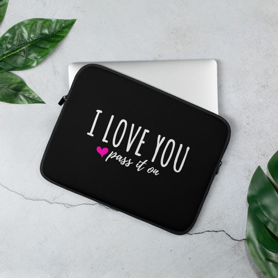 Laptop Sleeve (Signature Love Design) For Mac or PC Includes FREE SHIPPING Worldwide - ILOVEYOUPASSITON