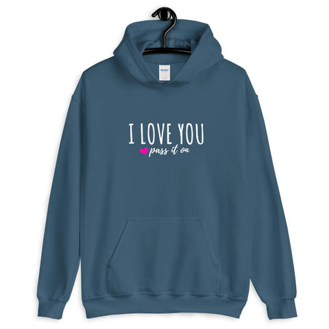 Unisex Pullover Hoodie (Signature Love Design) Now With FREE SHIPPING Worldwide - ILOVEYOUPASSITON