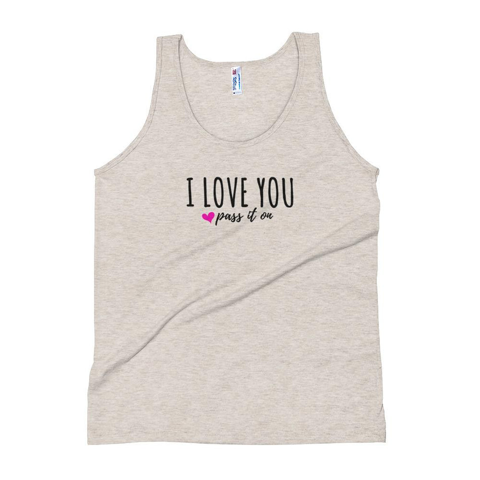 Unisex Tank Top (Signature Love Design) by American Apparel w FREE Worldwide Shipping - ILOVEYOUPASSITON