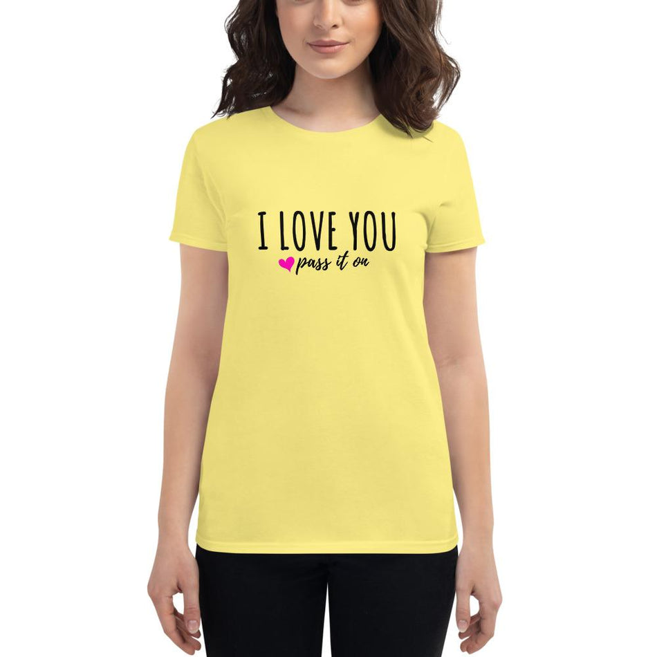 Women's Short Sleeve Shirt (Signature Love Design) Now With FREE SHIPPING Worldwide - ILOVEYOUPASSITON