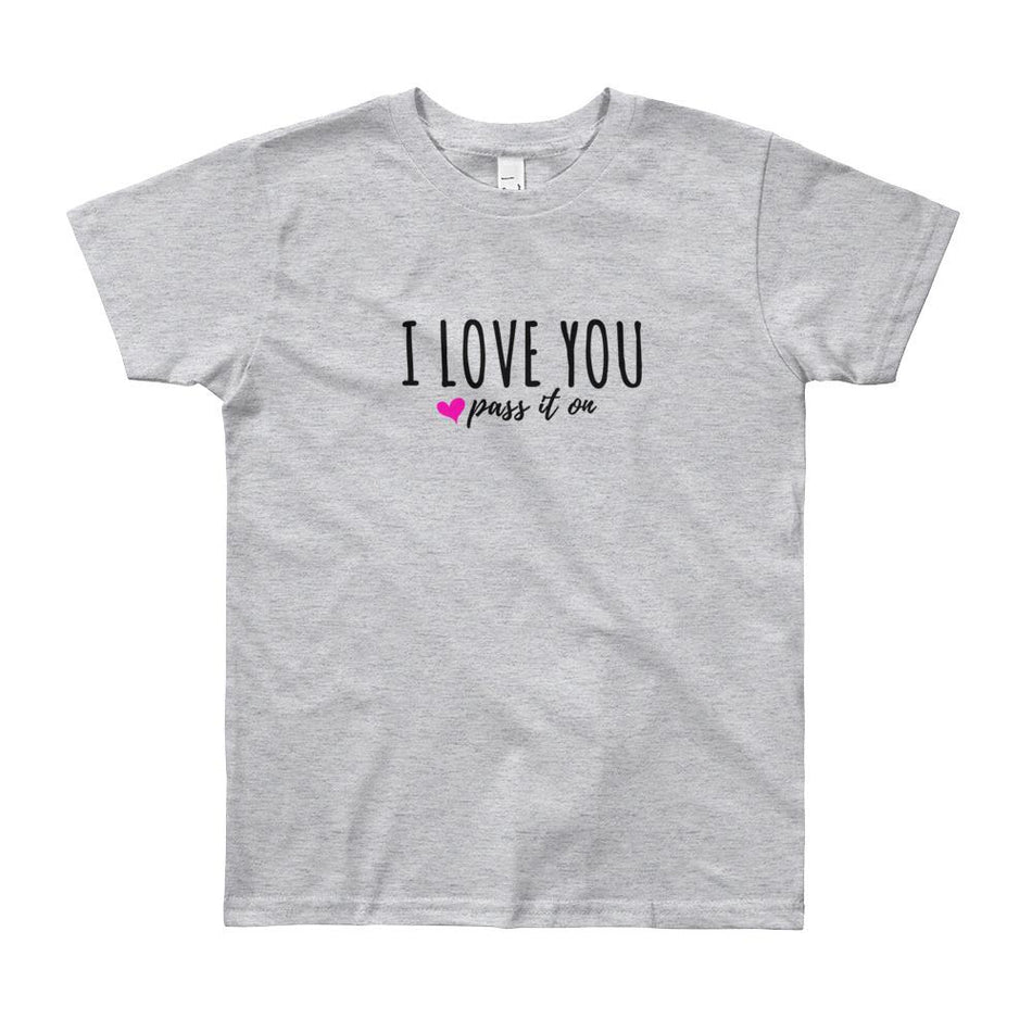 Youth Shirt (Signature Love Design) by American Apparel - ILOVEYOUPASSITON