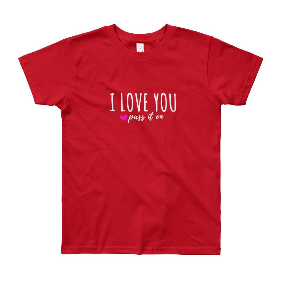 Classic Youth Shirt (Signature Love Design) by American Apparel w FREE SHIPPING Worldwide - ILOVEYOUPASSITON