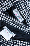 YVES SAINT LAURENT Black and White Houndstooth Skirt Suit Size 8