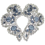 SHERMAN White and Sapphire Rhinestone Brooch