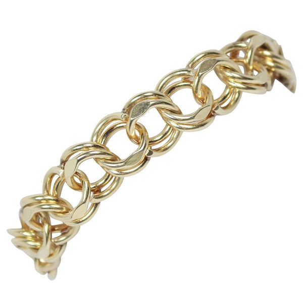 GOLD Chain Link Bracelet with 14 Karat Yellow Gold