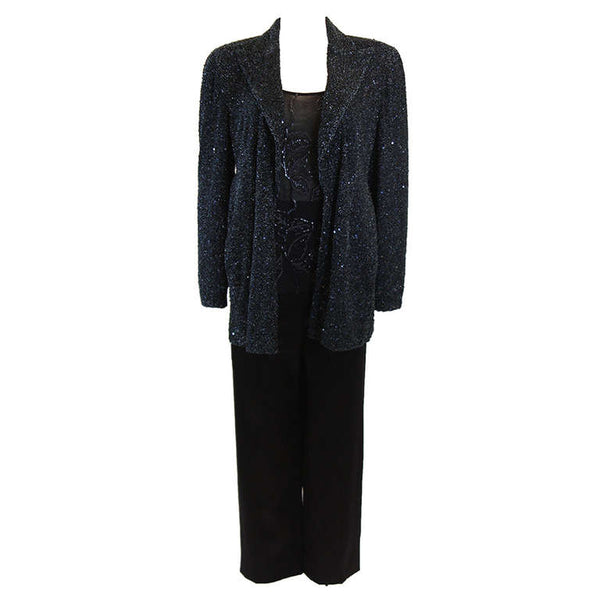 GIORGIO ARMANI Beaded Navy Evening Suit 3 pc Size 46