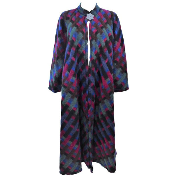 MISSONI Multi-Color Reversible Coat with Mirror Star Button Size 8