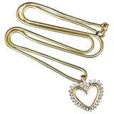 GOLD Chain Necklace 14 Karat Yellow Gold (Without Heart Charm)
