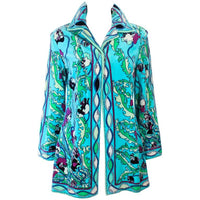 EMILIO PUCCI 1960s Terry Cloth Velour Swimsuit Cover Up Size 14