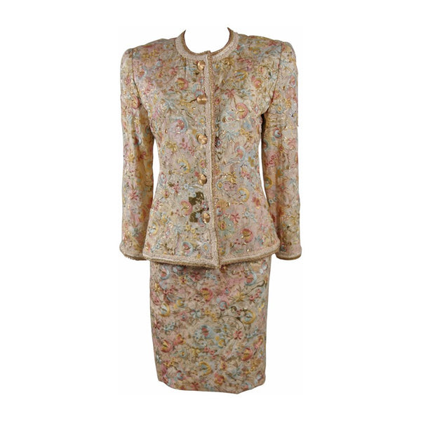 OSCAR DE LA RENTA 4 pc Baroque Skirt Suit