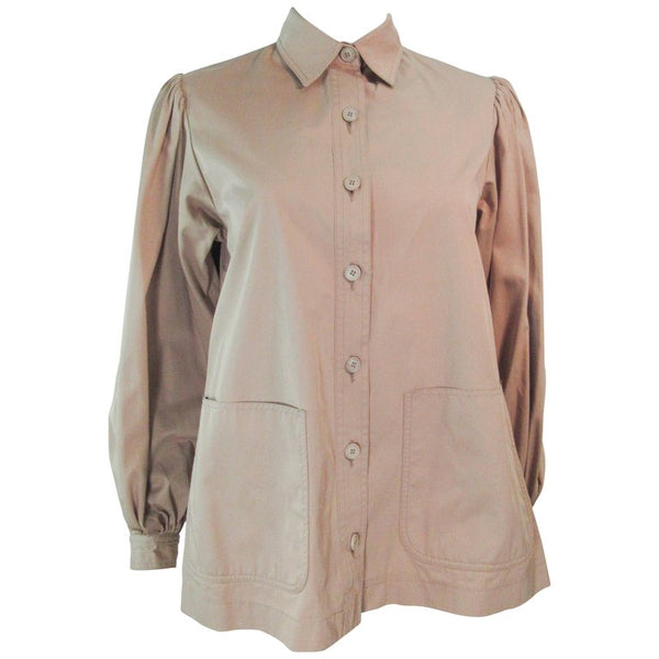 YVES SAINT LAURENT Safari Style Shirt with Pockets
