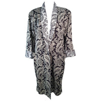 GIANNI VERSACE Vintage Black and White Venetian Coat Size 42
