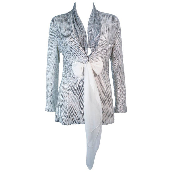 VINTAGE Rhinestone Jacket with Sash Size Small Medium