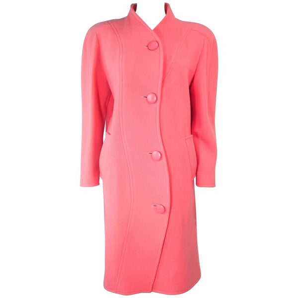 COURREGES Peach Coral Wool Coat Size 40