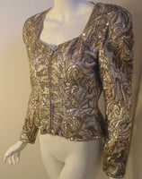 LACLEDE'S 1980s Light Pink Silk Evening Jacket with Beading