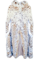 MAX REBY Tigre Royal Geneve Vintage Lynx Fur Full length Cape with Hood