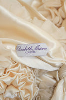 "ELIZABETH MASON COUTURE Made to Order Silk Ivory ""Rose"" Wrap"