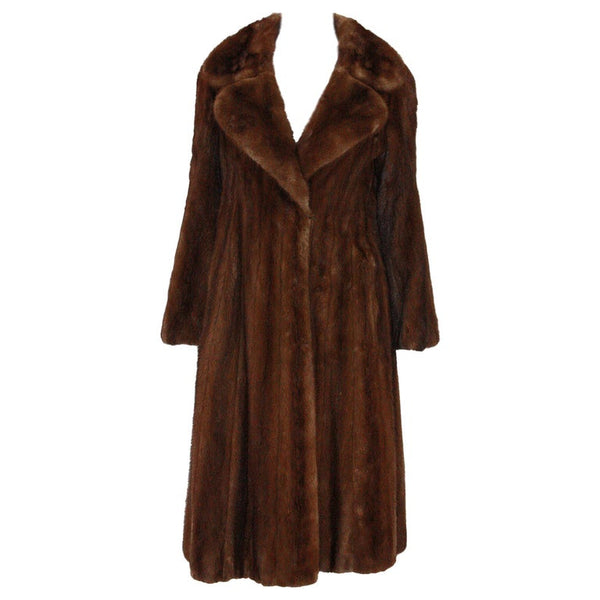 NORMAN NORELL for MICHAEL FORREST 1970s Natural Mink Coat