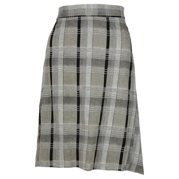 VIVIENNE WESTWOOD Anglomania Vintage Grey and Black Plaid Skirt
