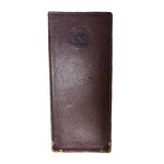 CELINE Slim Brown Leather Eye Glass Case
