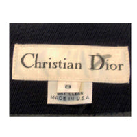"CHRISTIAN DIOR 1980s 2 pc Dark Blue Pant Suit. This is a smart pant suit from Christian Dior. The jacket has lightly padded shoulders and a one button front closure. The pants have a high waist and have pleats in the front.Size 8 USMeasurements:Jacket:Length(Shoulder to hem): 30""Shoulder to Shoulder: 16 1/2""Sleeve: 31""Bust: 38""Pants:Length: 40Inseam: 28""Waist: 26""Hip: 36"""