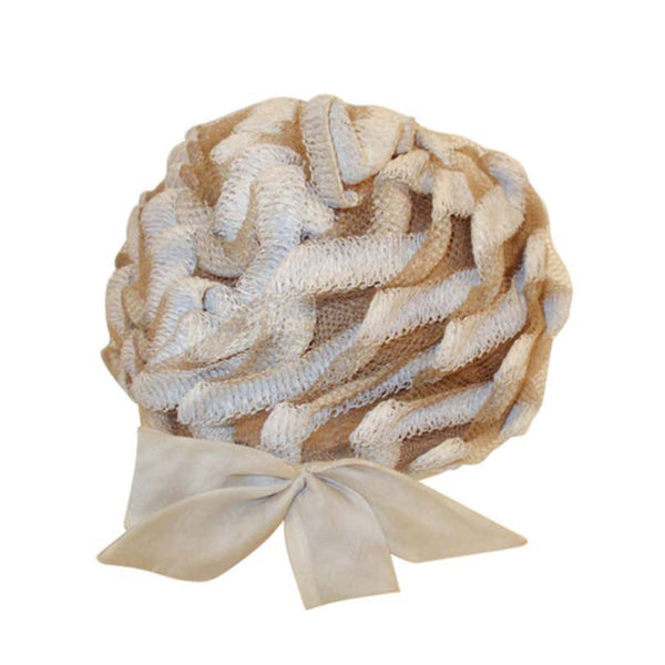 "CHRISTIAN DIOR Chapeaux Woven Textured Net Bubble Hat w/ Bow 1960's. Woven raffia and net with a side bow. Minor soiling around edge. Measurements:21"" 5"" high crown"