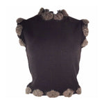 CHRISTIAN DIOR Brown Mohair Sleeveless Sweater Size 6