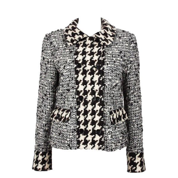 DOLCE & GABBANA Boucle Wool Double Breasted Jacket