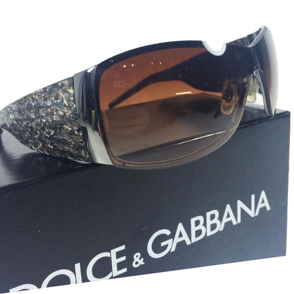 DOLCE & GABBANA Sunglasses with Hidden Frame and Marble Temples