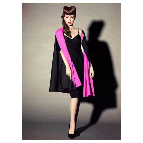 ELIZABETH MASON COUTURE 'Mae' Reversible Silk Coat