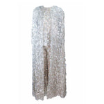 JAMES GALANOS 1960s 3 pc Silver Metallic Ensemble