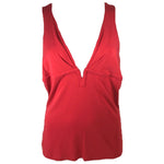GIANNI VERSACE Red V- Neck Tank Top Size 44