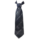 GUCCI Classic Gray Silk Tie with Diagonal Stripes Lines 58 in.