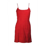 GUCCI Red Suede Spaghetti Strap Dress Size 4-6