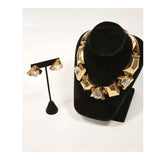 GIVENCHY Gold Tone Necklace with Matching Earrings
