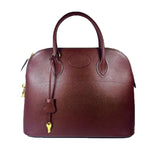 HERMES 1997 Brown Leather Zip Top Handle Bag w/ Lock and Keys