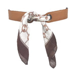 HERMES Dark Brown and Tan Reversible Leather Belt Size Large