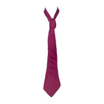 HERMES Dark Pink with Ovals and Line Print Men's Tie 62 in.