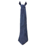 HUGO BOSS Blue Silk Tie with Square Pattern and Yellow Gold Accent 58 in.