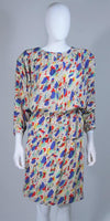 CHANEL Boutique Silk Abstract Coco Print Skirt and Blouse Set Size 4-6
